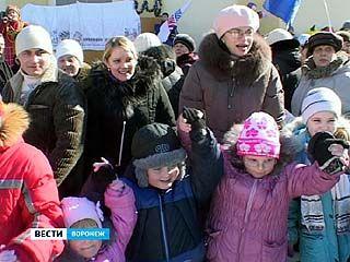 Масленичные гуляния с размахом прошли и в посёлке Придонской