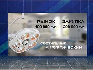 Медицинское оборудование в области приобреталось по заоблачным ценам
