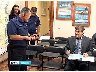 Мэр Воронежа посетил управление Гражданской обороны и Чрезвычайных ситуаций