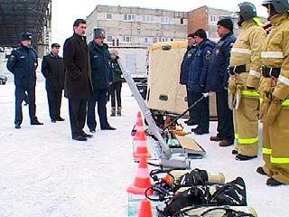 Мэр Воронежа проверил готовность аварийно-спасательной службы