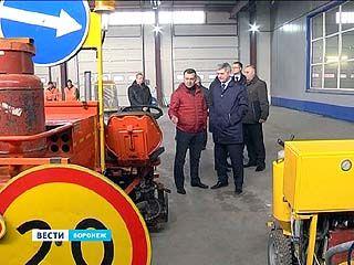 Мэр Воронежа разбирался, почему разметка на дорогах держится максимум полгода