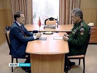 Министр обороны Сергей Шойгу побывал в Воронежском регионе с рабочим визитом