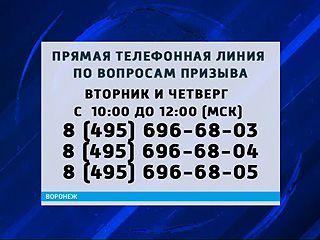 """Минобороны России открывает """"горячую линию"""" по вопросам призыва на военную службу"""