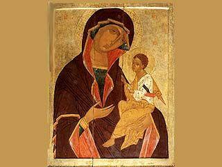 Митрополит передал Покровскому собору икону Божией Матери Одигитрия
