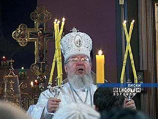 Митрополит Сергий освятил кресты и колоколов нового храма Рождества Христова