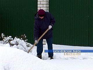 Мощный снегопад обрушился ночью на юг Воронежской области
