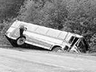 """На 256-м километре трассы """"Дон"""" перевернулся автобус"""