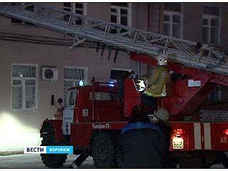 На базе Воронежского технологического университета провели пожарные учения