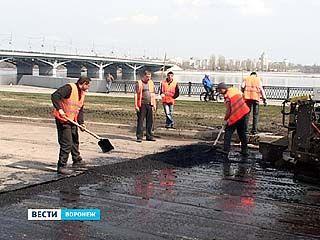 На дорогах Воронежа начался ремонт