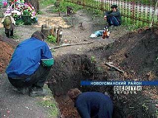 На Новоусманском кладбище обнаружен мумифицированный труп