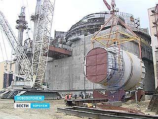 На НВАЭС-2 установили самое тяжелое оборудование - транспортный шлюз