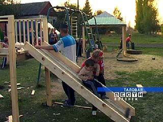 На окраине Таловой появилась детская площадка