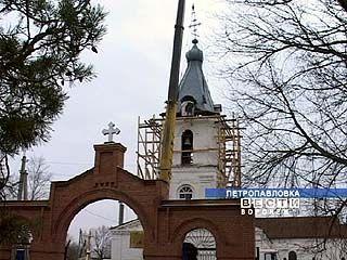На Петропавловский храм установлен новый купол