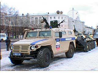 На площади Ленина прошел инструктаж и развод подразделений МВД