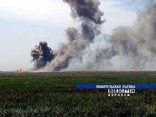 На полигоне в Погоново продолжают уничтожать боеприпасы