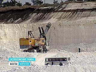 На предприятии по добыче мела в Острогожском районе найдены предметы, похожие на снаряды