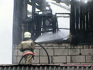На улице Большая Стрелецкая загорелся частный дом