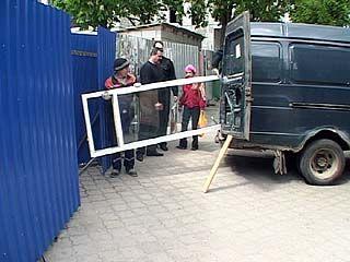 На улице Пушкинской начался демонтаж павильонов