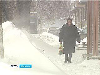 На Воронеж надвигаются снегопады