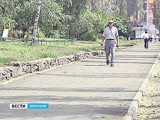 На Воронежских улицах массово прокладывают тротуары.