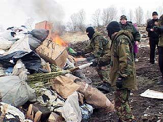 На Воронежском полигоне ТБО уничтожили несколько тонн наркотиков