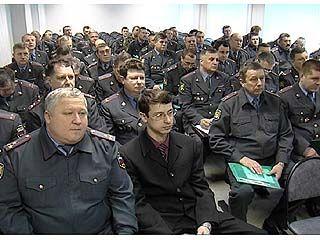 Начальники районных ОВД области участвуют в учебно-методических сборах