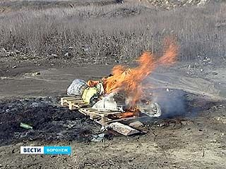 Наркополицейские сожгли крупную партию вещдоков