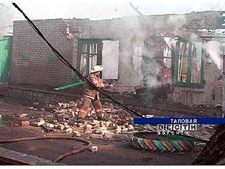 Ночью сгорел детский сад в Таловой
