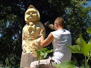 Ноу-хау Воронежа - скульптуры на корню