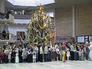 Новогодний праздник прошел во Дворце молодежи