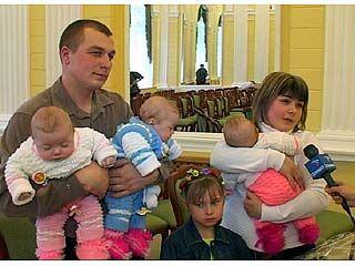 Новорожденных воронежцев чествовали во Дворце бракосочетания