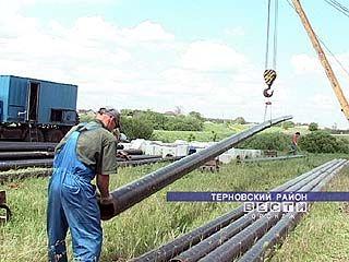 Новую газовую магистраль строят в Терновке