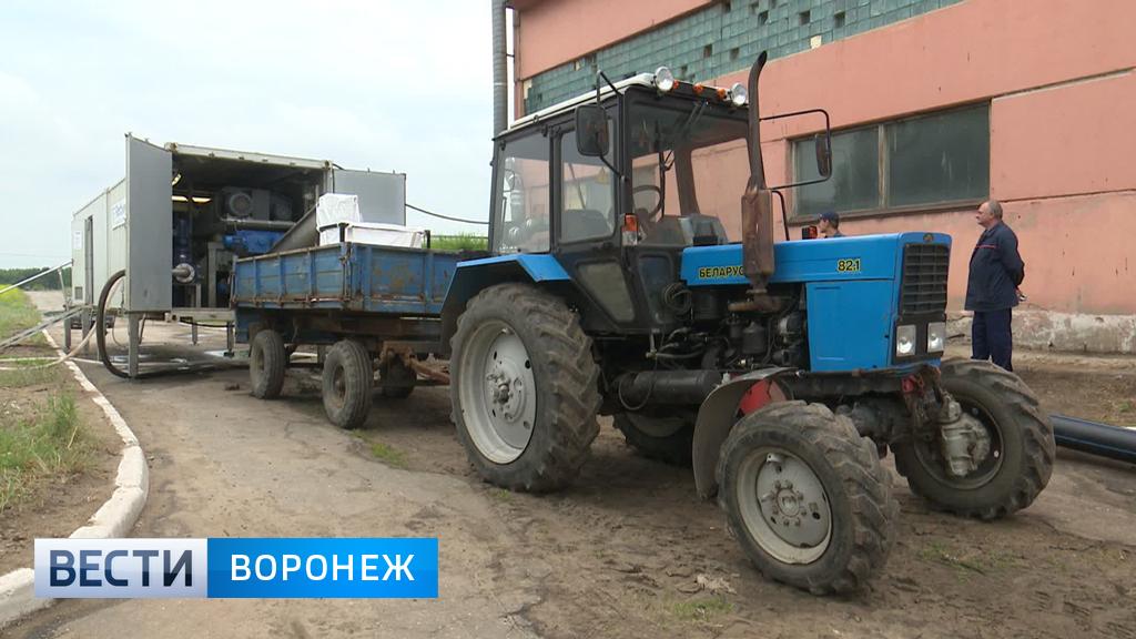 В Воронеже на очистных сооружениях испытывают инновационную технику