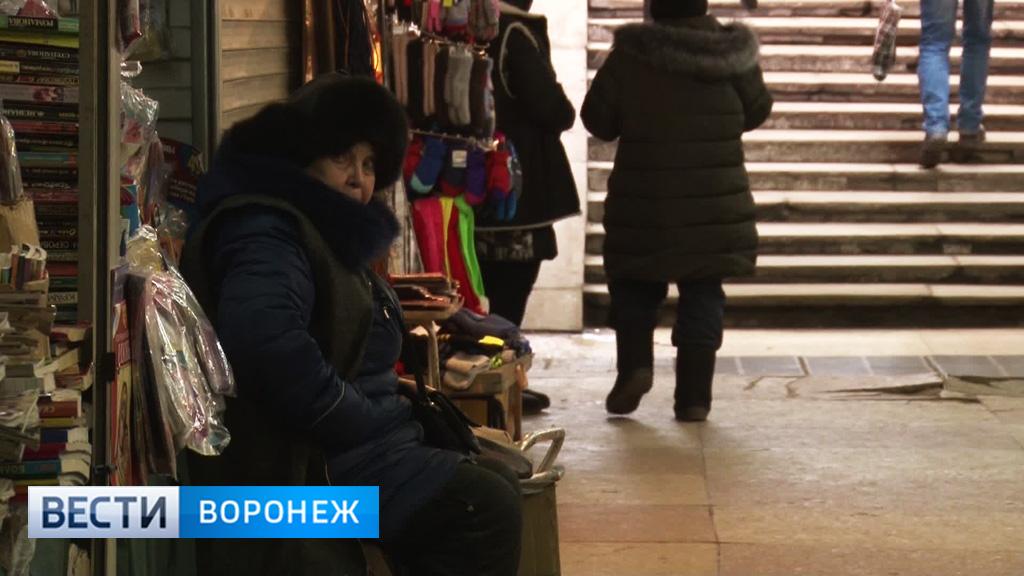 В Воронеже до конца февраля снесут киоски в подземном переходе у Петровского сквера