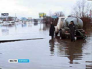 Обещали снег, но пока в Воронеже только большая вода