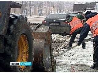 Обильный снегопад накрыл Воронеж в канун Рождества