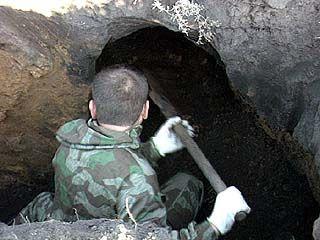 Обнаружены останки советского солдата