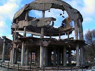Обрушилась большая часть купола Ротонды