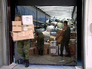 Около сотни тонн гуманитарного груза для погорельцев привезли в Воронеж из Сибири