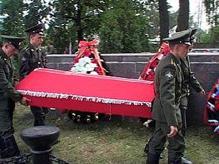Останки 52-х воинов перезахоронили в Воронеже
