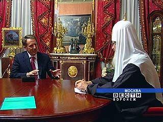 Патриарх Кирилл благословил освящение Благовещенского собора