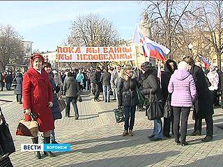 Патриотические организации Воронежа устроили альтернативный митинг