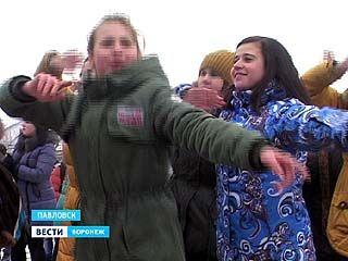 Павловск отметил открытие зимних Олимпийских игр общегородской зарядкой