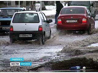 Павловск под угрозой затопления талыми водами