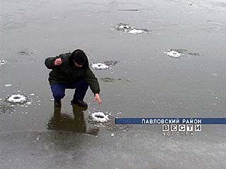 Павловские рыбаки уже вышли на первый лёд