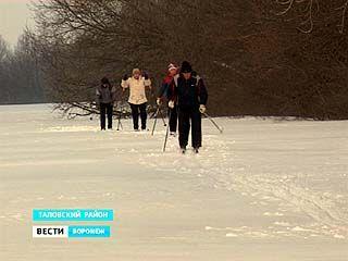 Пенсионеры из Таловского района становятся на лыжи регулярно