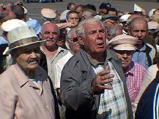 Пенсионеры провели митинг