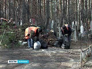 Перед праздником Светлой Пасхи воронежцы привели в порядок кладбища