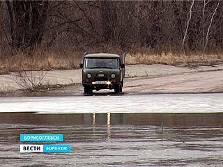 Переправа, соединяющая два Борисоглебских села, ушла под воду