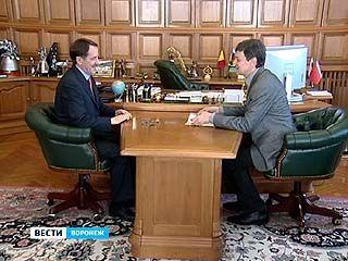 Перспективы нескольких храмов Мельпомены Алексей Гордеев обсудил с Михаилом Бычковым